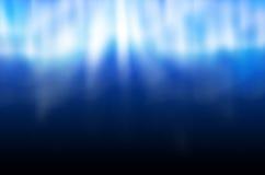 Cena subaquática com raias de luz Fotos de Stock Royalty Free