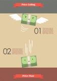 Cena sufit i ceny podłoga Infographic Zdjęcie Stock