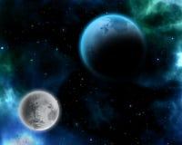 Cena surreal do espaço ilustração do vetor