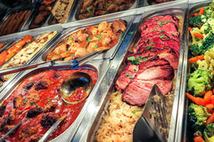 Cena tedesca del buffet Fotografie Stock