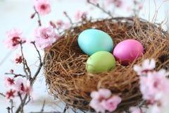Cena temático da vida do feriado da Páscoa ainda na luz natural Fotografia de Stock