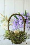 Cena temático da vida do feriado da Páscoa ainda na luz natural Fotografia de Stock Royalty Free