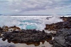 Cena temperamental do oceano Fotografia de Stock Royalty Free