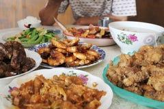 Cena tradicional china de la reunión de familia Foto de archivo