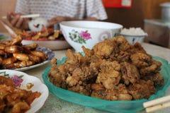 Cena tradicional china de la reunión de familia Fotografía de archivo