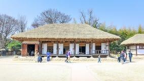 Cena tradicional do pavilhão de Gwanghalluwon na mola Fotografia de Stock Royalty Free