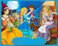 Cena tradicional feliz e colorida do casal real medieval Imagens de Stock Royalty Free