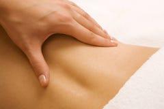 Cena tranquilo, massagem em um centro dos termas Imagens de Stock Royalty Free