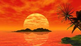 Cena tropical bonita Fotos de Stock Royalty Free
