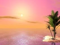 Cena tropical bonita Fotografia de Stock Royalty Free