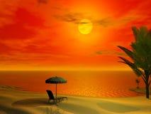 Cena tropical bonita Foto de Stock