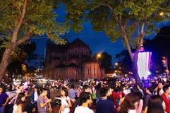 Cena urbana aglomerada, feriado de Vietname Fotos de Stock