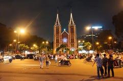 Cena urbana aglomerada, feriado de Vietname Fotografia de Stock