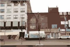 Cena urbana da cidade Imagem de Stock