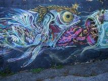 Cena urbana de prosperidade da arte dos grafittis e da rua em Lisboa, Portugal, 2014 imagens de stock