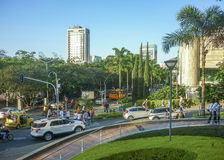 Cena urbana do dia de Medellin Colômbia Fotografia de Stock Royalty Free