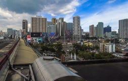 Cena urbana em Guadalupe na cidade de Makati, metro Manila, Filipinas Foto de Stock Royalty Free