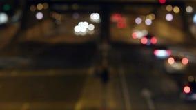 Cena urbana tráfego borrado da noite em Barcelona Lapso de tempo 07 filme