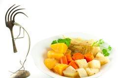 Cena vegetariana hecha en casa de la col Foto de archivo
