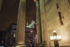 Cena velha da noite de Montreal Imagem de Stock