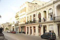CENA VELHA DA RUA DE CUBA HAVANA Imagem de Stock Royalty Free