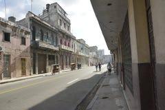 CENA VELHA DA RUA DE CUBA HAVANA fotos de stock royalty free