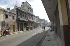 CENA VELHA DA RUA DE CUBA HAVANA imagens de stock royalty free