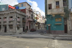 CENA VELHA DA RUA DE CUBA HAVANA fotografia de stock royalty free
