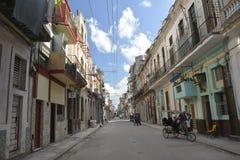 CENA VELHA DA RUA DE CUBA HAVANA Imagens de Stock