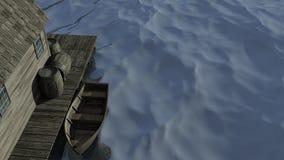 Cena velha do barco Imagens de Stock Royalty Free