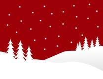Cena vermelha do inverno do Natal Imagem de Stock Royalty Free