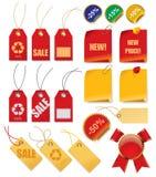 cena zestawy etykiety Fotografia Royalty Free