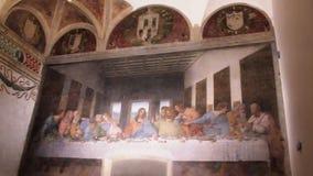 Cenacolo che dipinge Milano video d archivio