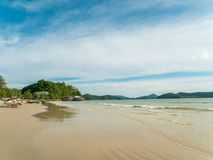 Cenang Beach in Langkawi Malaysia with Waves. Cenang Beach in Langkawi Malaysia with Sunny Day, waves and no people around doing activity stock images