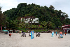 Cenang Beach Langkawi. Pantai Cenang – Langkawi's main vein – may not be as rowdy as the Las Vegas strip but it is Malaysia's most developed west-coast Stock Images