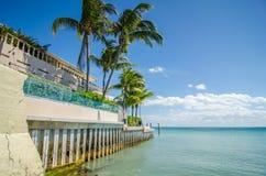 Cenas bonitas da praia e do oceano em chaves de florida Foto de Stock