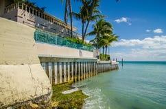 Cenas bonitas da praia e do oceano em chaves de florida Fotografia de Stock Royalty Free