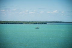 Cenas bonitas da praia e do oceano em chaves de florida Foto de Stock Royalty Free