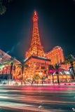 Cenas bonitas em torno da tira de Las Vegas na noite Fotos de Stock
