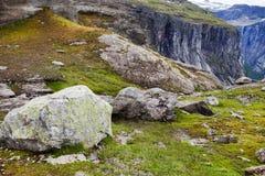 Cenas coloridas da montanha em Noruega Paisagem bonita de Noruega, Escandinávia Paisagem da montanha de Noruega Fotos de Stock