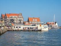 Cenas da cidade de Volendam Fotografia de Stock Royalty Free