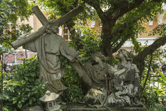 Cenas da crucificação de Jesus Imagem de Stock Royalty Free