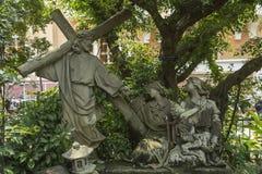 Cenas da crucificação de Jesus Imagem de Stock