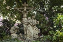 Cenas da crucificação de Jesus Fotos de Stock