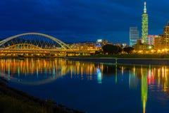 Cenas da noite da cidade de Taipei Imagens de Stock