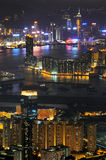 Cenas da noite de Hong Kong imagem de stock