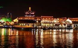 Cenas da noite de Suzhou Fotografia de Stock
