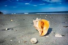 Cenas da praia da ilha da caça Imagem de Stock