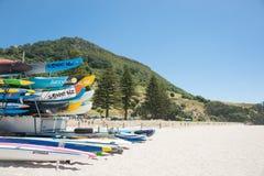 Cenas da praia de Maunganui da montagem Imagens de Stock Royalty Free
