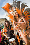 Cenas da samba Imagem de Stock